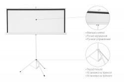 """Екран 2E на тринозі, 1:1, 100"""", (1.8*1.8 м)"""