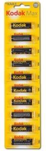 Батарейка Kodak MAX LR6 уп., 1 шт. (1*10 отрывная)