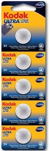 Батарейка Kodak Ultra lit. CR2016 уп., 1х5 шт. отрывные