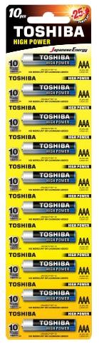 Батарейка Toshiba LR03 HP Alkaline BP 1X10
