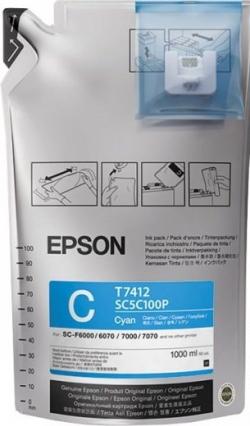 Чернила Epson для SC-F6000/7000 UltraChrome DS Cyan (1Lx6packs)
