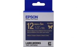 Картридж с лентой Epson LK4HKK принтеров LW-300/400/400VP/700 Ribbon Gold/Navy 12mm/5m