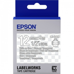 Картридж с лентой Epson LK4TWN принтеров LW-300/400/400VP/700 Clear White/Clear 12mm/9m