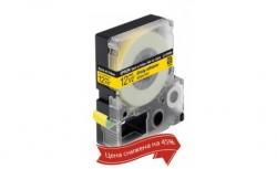 Картридж с лентой Epson LK4YBW9 принтеров LW-300/400/400VP/700 Strng adh Blk/Yell 12mm/9m