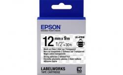 Картридж с лентой Epson LK4TBW принтеров LW-300/400/400VP/700 Strng adh Blk/Clear 12mm/9m