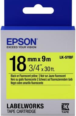 Картридж с лентой Epson LK5YBF принтеров LW-400/400VP/700 Fluor Blk/Yell 18mm/9m