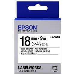 Картридж с лентой Epson LK5WBN принтеров LW-400/400VP/700 Std Blk/Wht 18mm/9m
