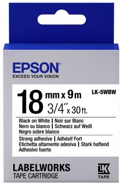 Картридж с лентой Epson LK5WBW принтеров LW-400/400VP/700 Strng adh Blk/Wht 18mm/9m