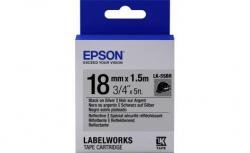 Картридж с лентой Epson LK5SBR принтеров LW-400/400VP/700 Reflectiv Blk/Silv 18mm/1,5m