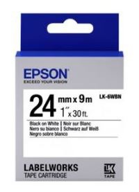 Картридж с лентой Epson LK6WBN принтеров LW-700 Std Blk/Wht 24mm/9m