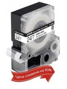 Картридж с лентой Epson LK6WBC принтеров LW-700 Cable wrap Blk/Wht 24mm/9m