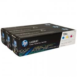 Картридж HP 126A CLJ CP1025/M175/M275 (CE311A,CE312A,CE313A) CYM (3*1000 стр) Тройная упаковка