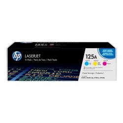 Картридж HP 125A CLJ CP1215/CP1515 (CB541A,CB542A, CB543A) CYM (3*1400 стр) Тройная упаковка