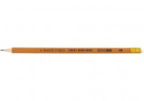 Олівець чорнографітний ECONOMIX НВ корпус помаранчевий, загострений з гумкою E11301-12