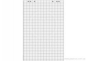 Блокнот для фліпчарту Optima, 20 арк., розмір 640х900 мм, 70г/м2, клітинка O75307