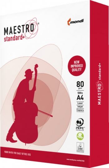 Папір Maestro Standard Plus + А4 80 г/м2 500 арк., клас B+