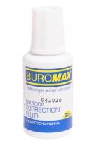 Корректирующая жидкость с кисточкой 20мл, Buromax JOBMAX