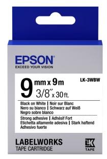 Картридж с лентой Epson LK3WBW принтеров LW-300/400/400VP/700 Strng adh Blk/Wht 9mm/9m