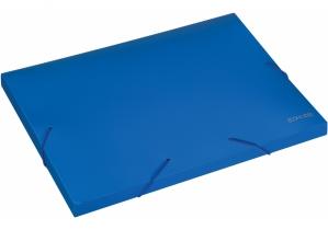 """Папка-бокс пластиковая А4 на резинках Economix, 20 мм, фактура """"бриллиант"""", синяя ECONOMIX"""