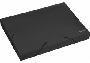 """Папка-бокс пластиковая А4 на резинках Economix, 40 мм, фактура """"бриллиант"""", черная ECONOMIX"""