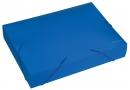 Папка-бокс пластиковая A4 60мм на резинках, синяя