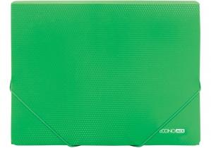 """Папка пластиковая А4 на резинках Economix, фактура """"бриллиант"""", зеленый ECONOMIX"""