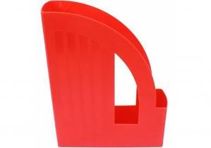 Лоток для паперів вертикальний Economix, пластик, червоний