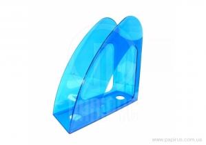 """Лоток для паперів вертикальний """"Райдуга"""" Economix, пластик, синій"""