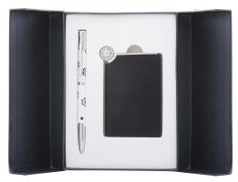 """Набір подарунковий """"Nature"""": ручка кулькова + дзеркало, чорний Langres"""