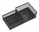 Подставка настольная для канцелярских принадлежностей Optima, 205х105х55 мм, металл сетка, черная OPTIMA