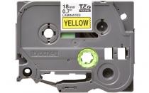 Термо-лента Brother 18mm ламинированная, черным на желтом