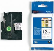 Термо-лента Brother 12mm не ламинированная, черный на белом